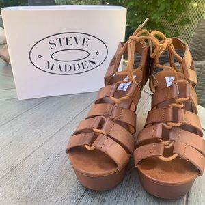 Steve Madden Strappy Wedges - Size 7